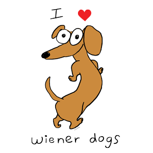 I Love Weiner Dogs Coffee Mug