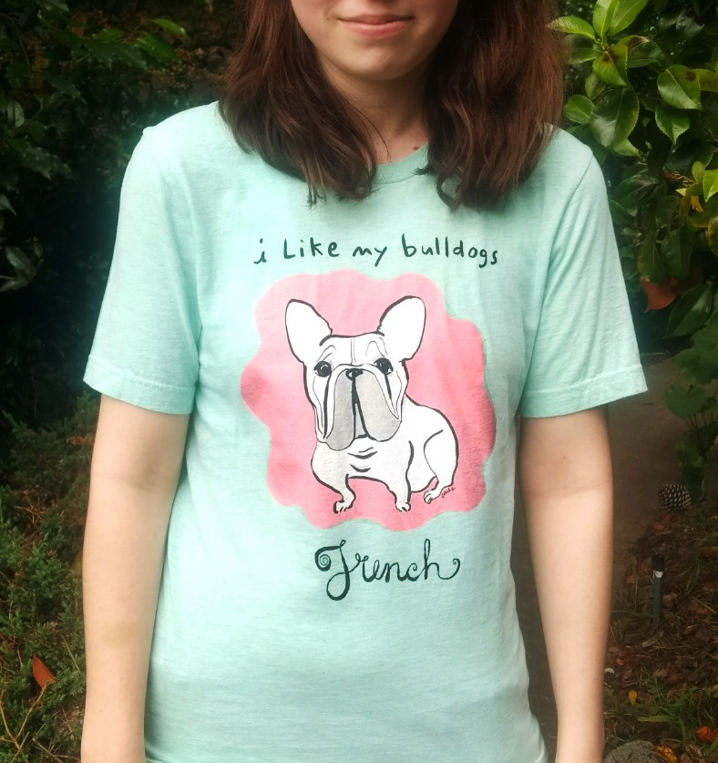 French Bulldog - Short-Sleeve Men's and Women's T-Shirt