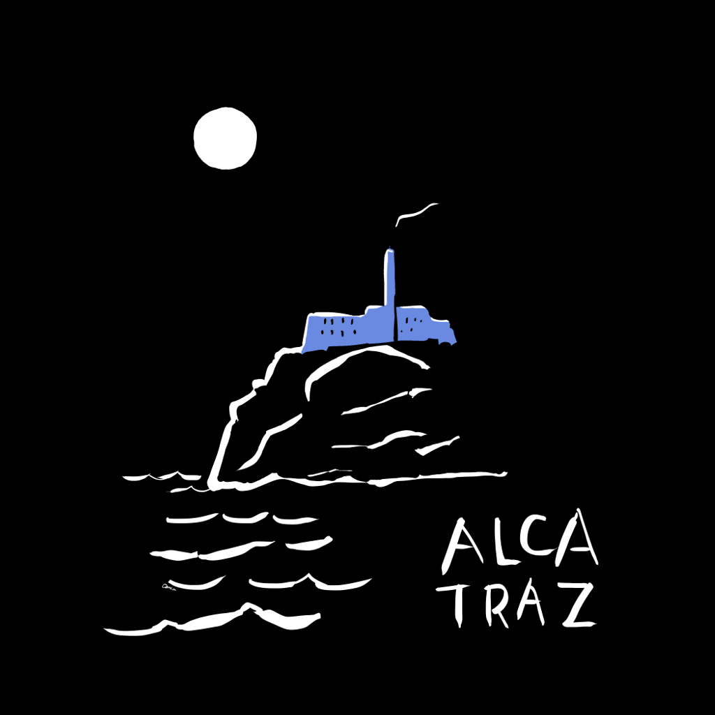 Alcatraz night tour t-shirt Carla Miller Art