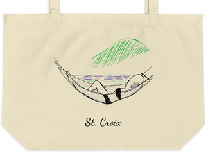 Beachside Hammock Large organic tote bag
