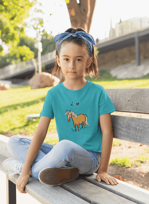 I Love Horses Girl's Princess T-Shirt