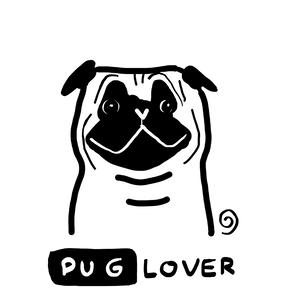 Pug Lover Organic Cotton Eco Tote Bag