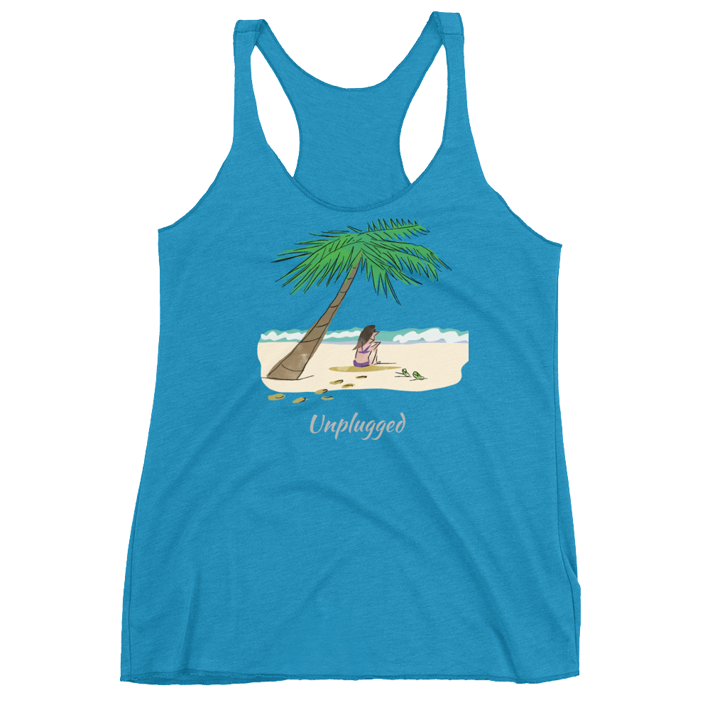 Unplugged in Paradise Women's Racerback Tank