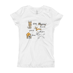 Dogs of the World Girl's Princess Tee