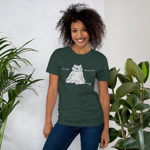 Think Pawsitive Men's and Women's Short-Sleeve T-Shirt
