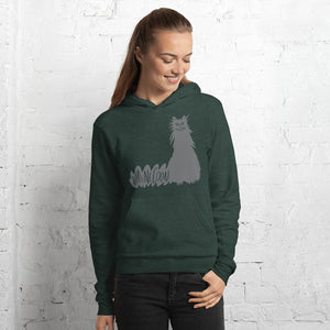 Grey Maine Coon Cat hoodie sweatshirt