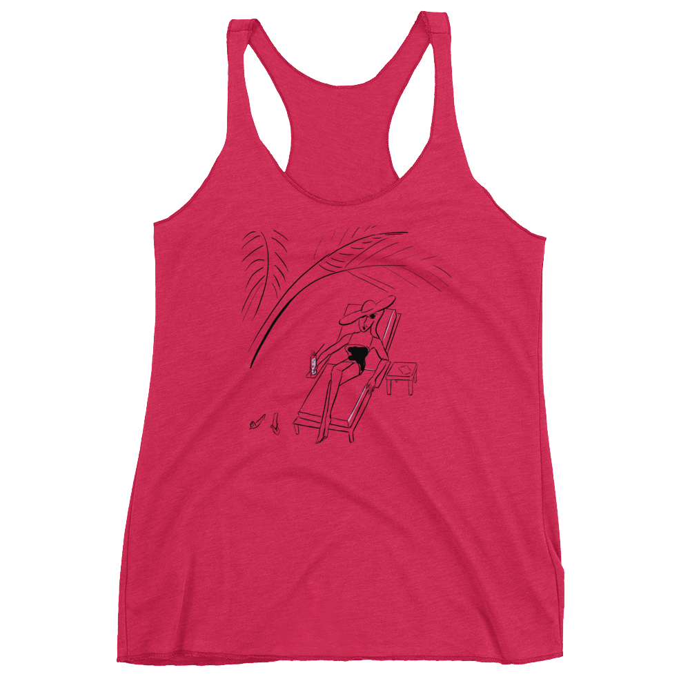 Under the Palm Leaves Racerback Tank