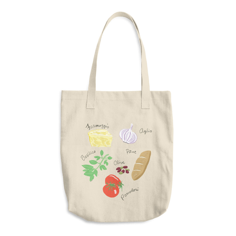 Italian Foods Cotton Tote Bag