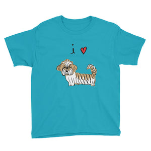 I Love Lhasas/Shih-Tzus Kids' Short Sleeve T-Shirt