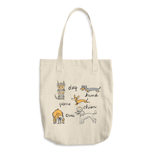 Dogs of the World Cotton Tote Bag