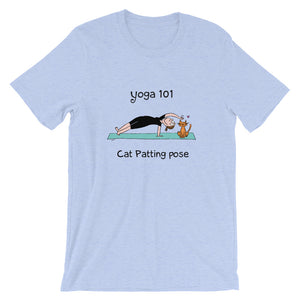 Funny yoga gift cat patting pose t-shirt