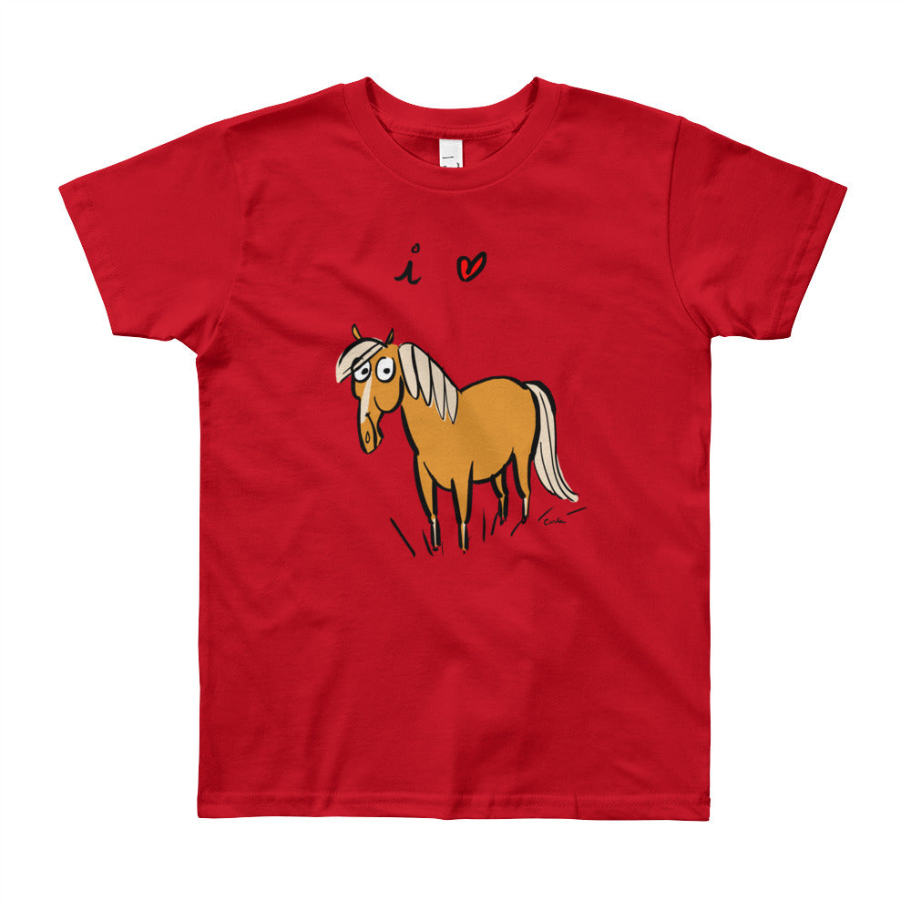 I Love Horses Youth Short Sleeve T-Shirt