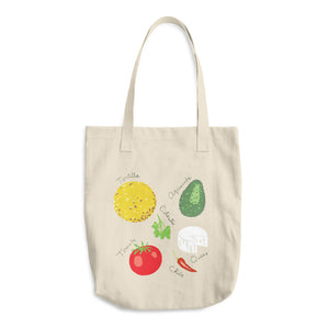 Mexican Foods Cotton Tote Bag