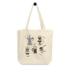 Coffees of the World Organic Cotton Tote Bag
