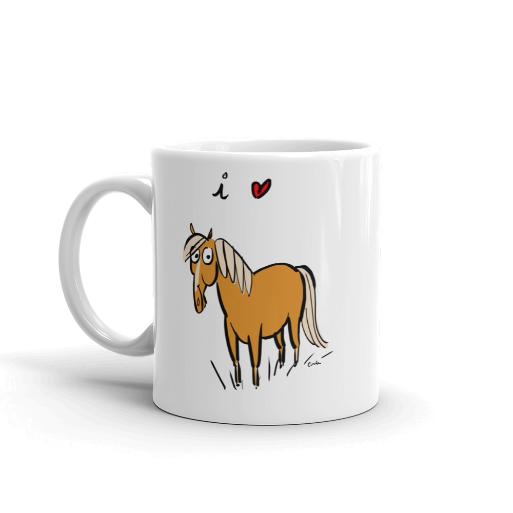 I Love Horses Coffee Mug