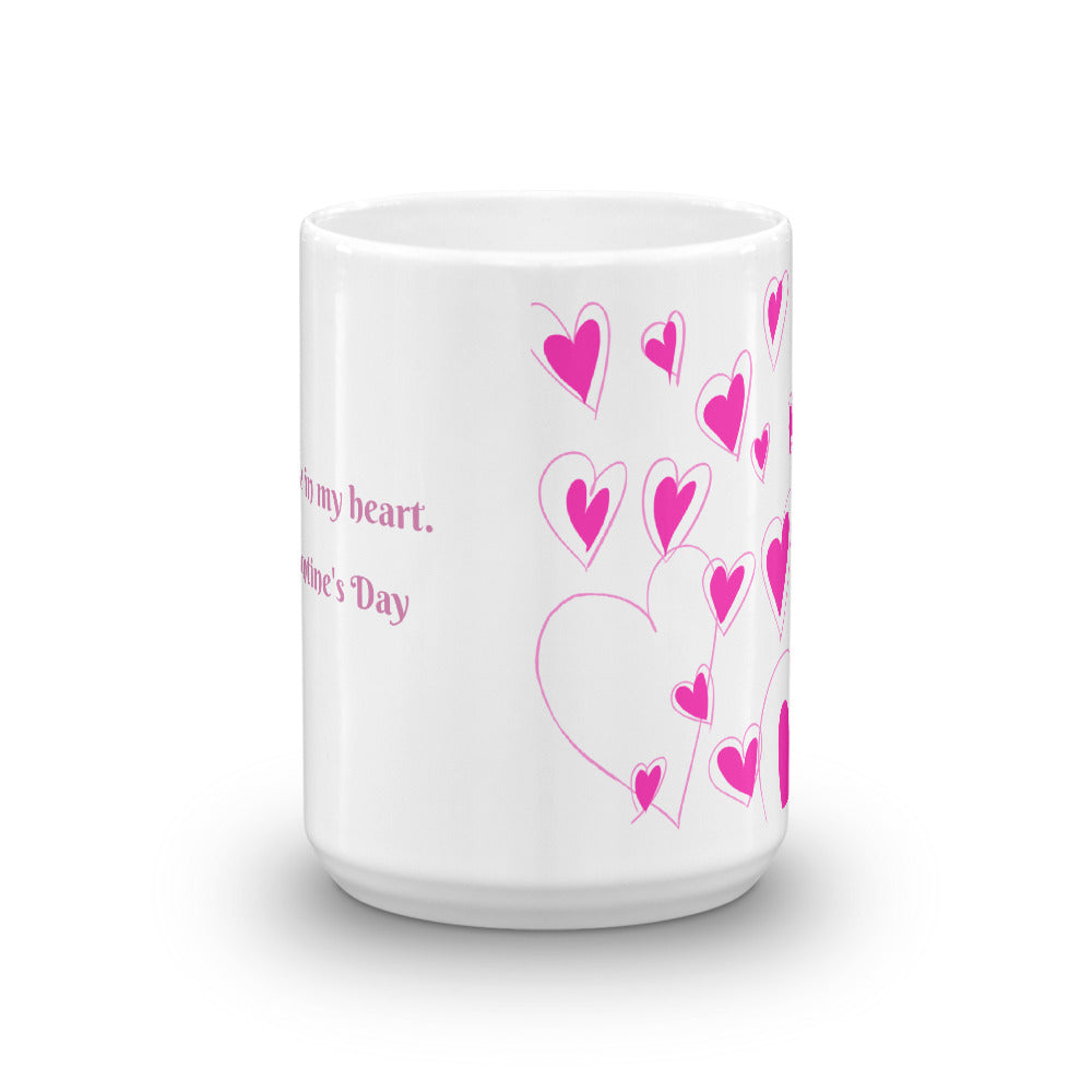 You're Always in My Heart Valentine's Day Coffee Mug
