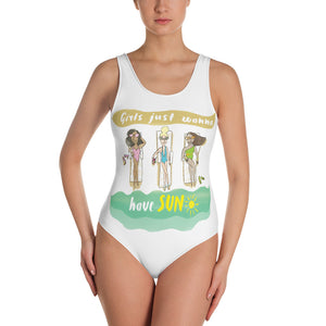 Girls Just Wanna Have Sun One-Piece Swimsuit