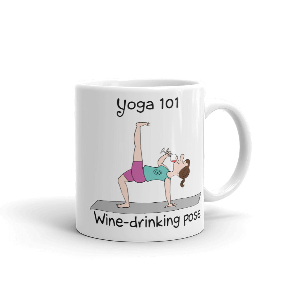 Yoga 101 Wine Drinking Pose Mug