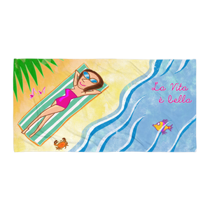 La Vita è Bella Beach Towel