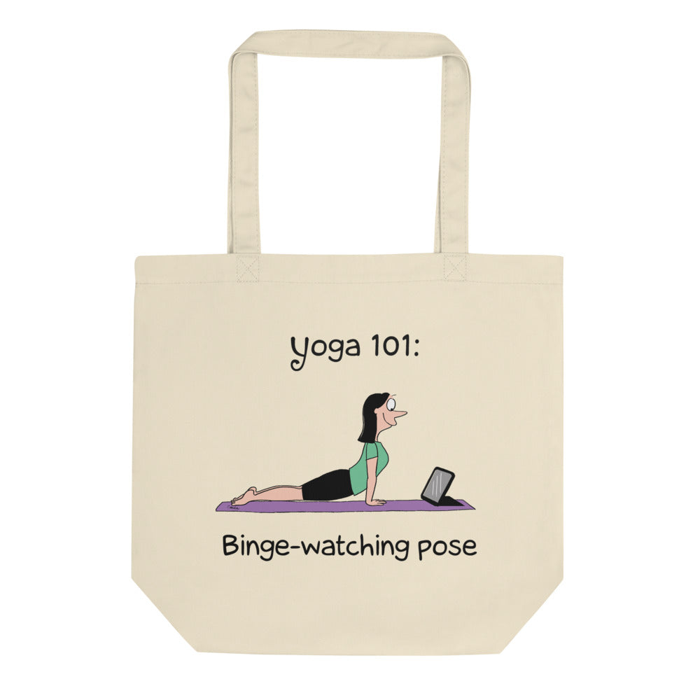 Yoga 101 Binge-Watching Organic Cotton Tote Bag