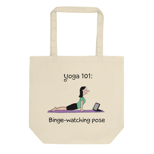 Funny yoga gift binge watching pose