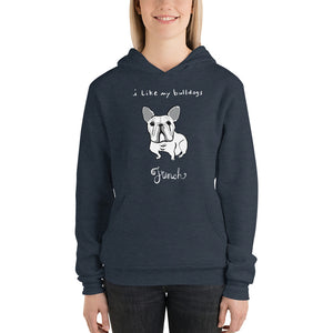 French Bulldog Men's and Women's Bella and Canvas Hoodie