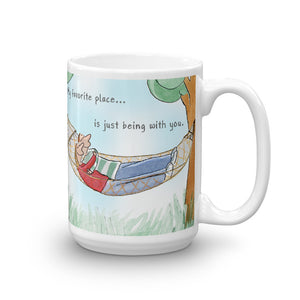 My Favorite Place is with You Valentine's Coffee Mug