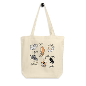 Cats of the World Organic Cotton Eco Tote