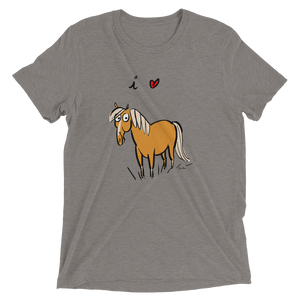 I Love Horses Short Sleeve Men's and Women's T-shirt