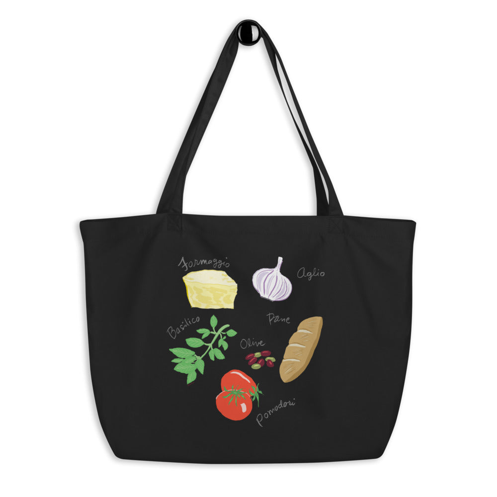 Italian Foods Large Organic Cotton Tote Bag