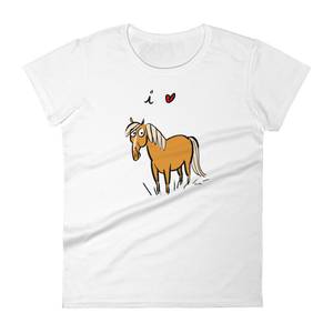 I Love Horses Women's Short Sleeve T-shirt