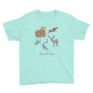 Animal Lover Bear Lemur Deer Elk Hawk Turtle boys and girls t-shirt