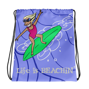 Life is Beachin' Drawstring Bag