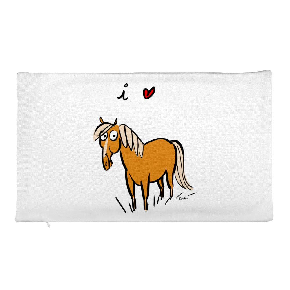 I Love Horses Premium Pillow Case