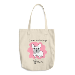 French Bulldog Los Angeles Apparel E549 Bull Denim Woven Cotton Tote