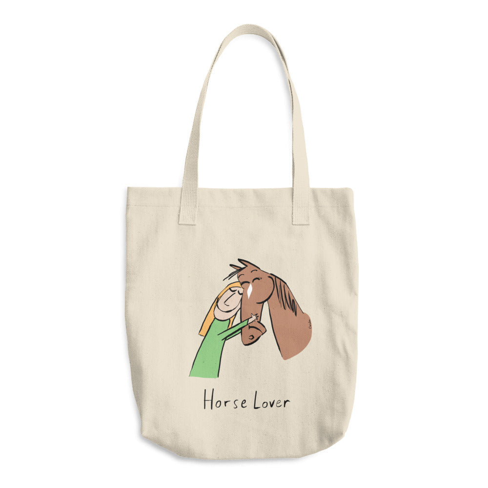 Horse Lover Cotton Tote Bag
