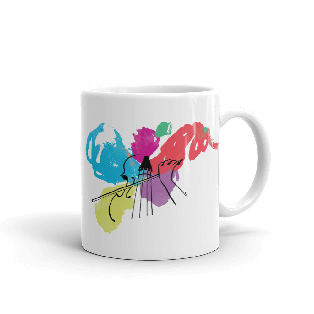 Colors of Music Cello Coffee Mug