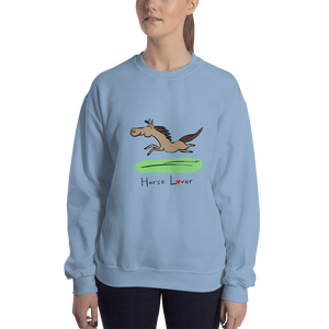 Horse Lover Heavy Blend Crewneck Sweatshirt