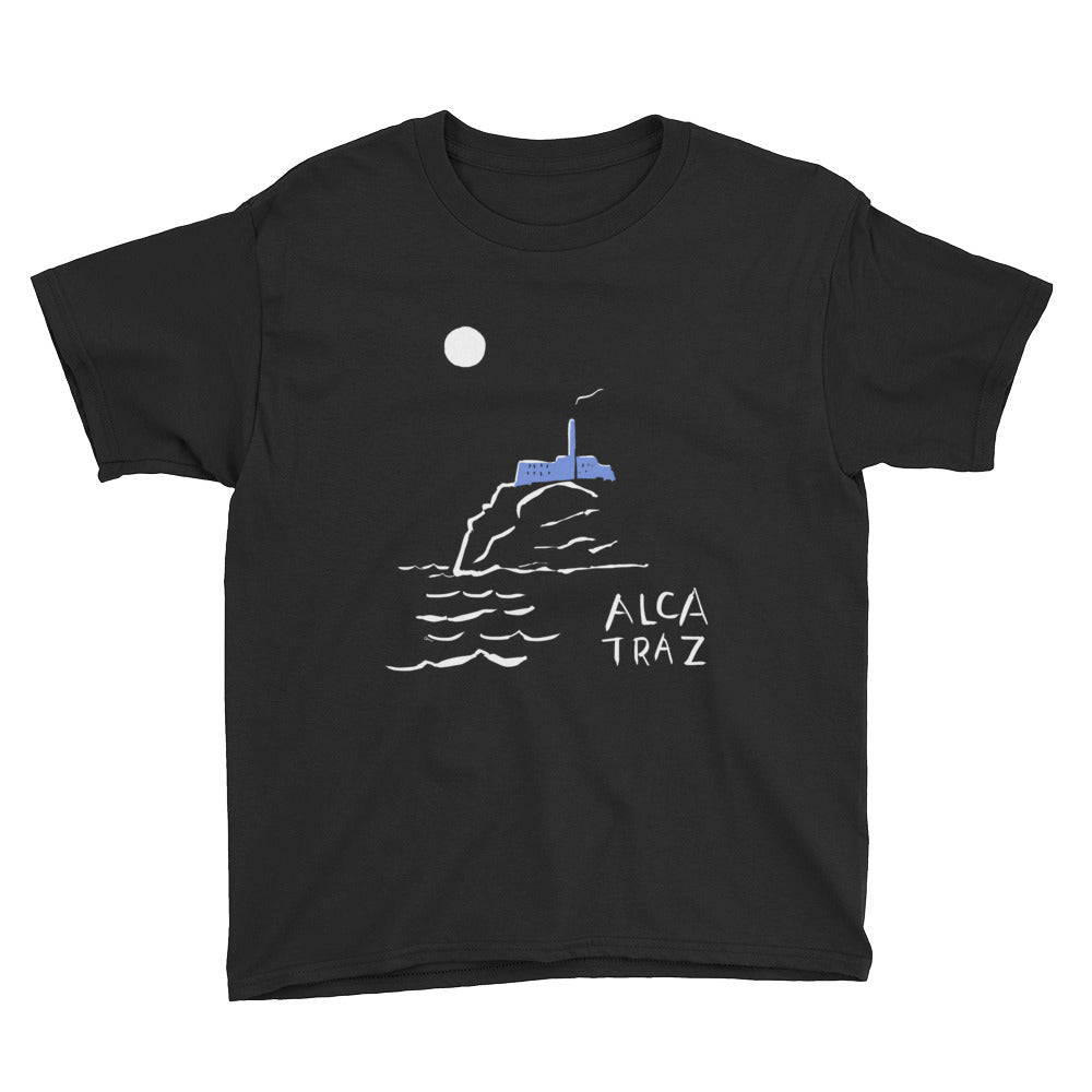 Alcatraz island at night tour kids boys girls t-shirt