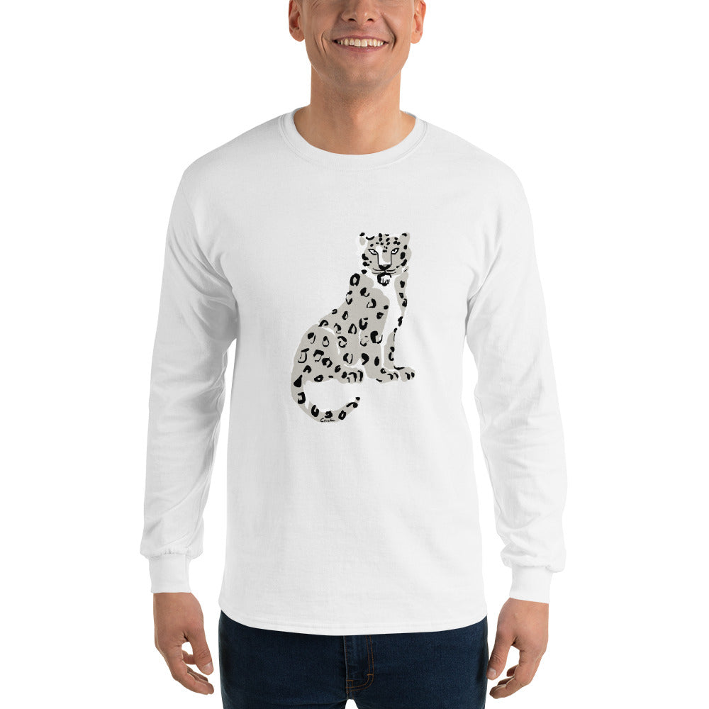 Endangered Himalayan Snow Leopard Long Sleeve T-Shirt