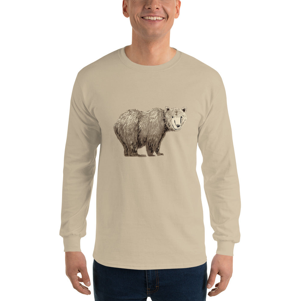 Bear Long Sleeve Cotton Shirt