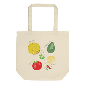 Mexican Foods 100% Organic Cotton Tote Bag