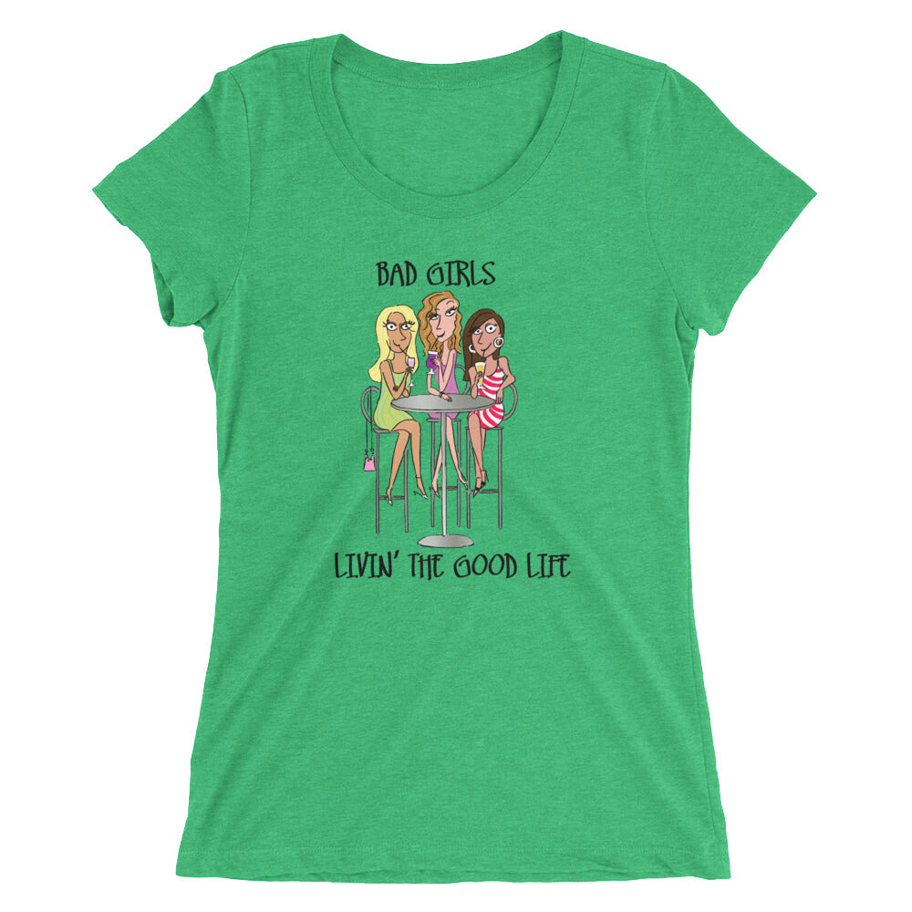 Bad Girls Sipping Together Women's Triblend T-shirt