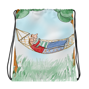 In Love on the Hammock Drawstring Bag