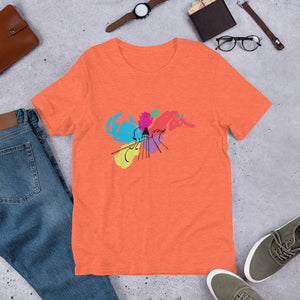 Colors of Music Cello Short-Sleeve Men's and Women's T-Shirt