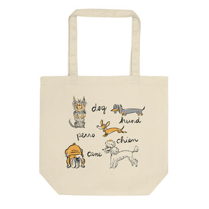 Dogs of the World Organic Cotton Eco Tote Bag