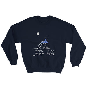 Alcatraz Island night tour mens womens sweatshirt