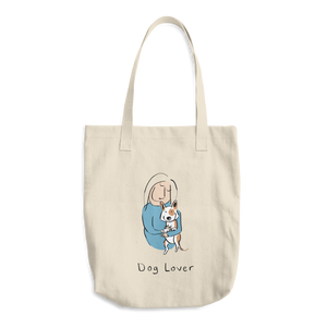 Dog Lover Cotton Tote Bag