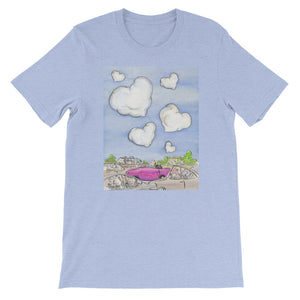 Heart in the Clouds Men's and Women's T-Shirt