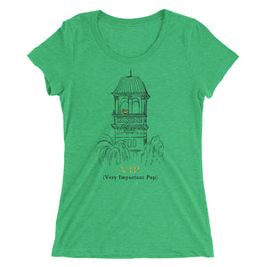 Claremont VIP dog in tower Ladies' short sleeve t-shirt